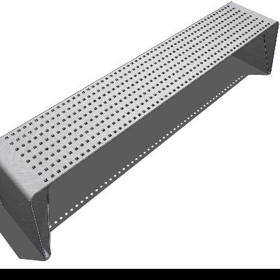 简约铁艺镂空长凳sketchup模型素材