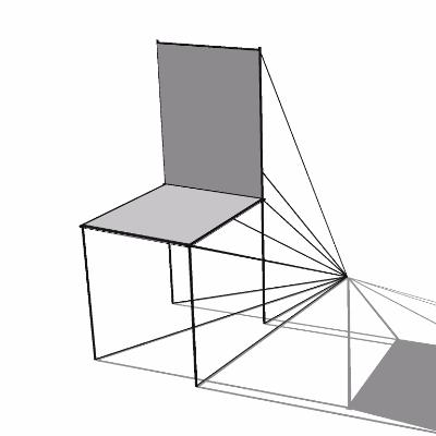 极简视觉差创意椅子su模型