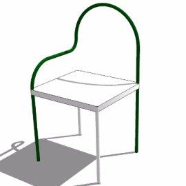 su极简绿白色椅子