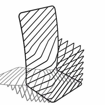 su极简线条创意椅子