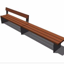 su户外条形长椅模型