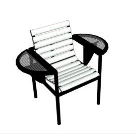 单人休闲座椅SU模型