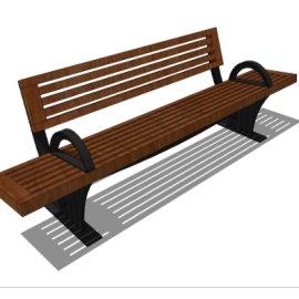 户外木质长椅模型素材