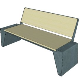 户外休闲座椅sketchup模型