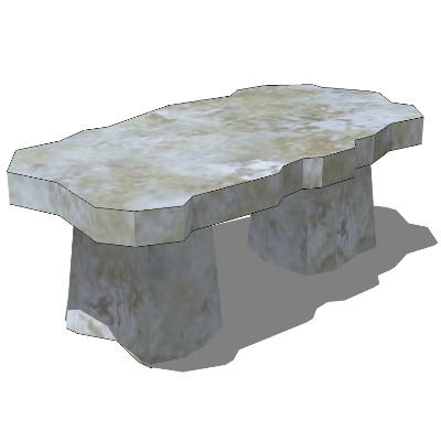 公园/小区不规则石凳SU模型