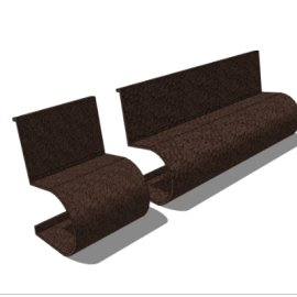 创意休闲SKP座椅模型素材