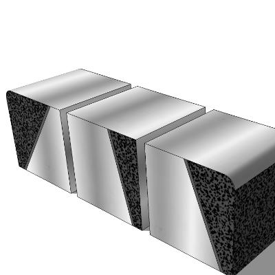 步行街石质三人坐凳组合SU模型