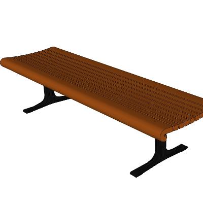 公园步行街长凳模型SU素材