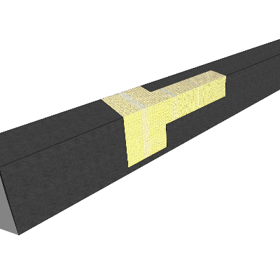 公共区域石质长凳SU模型素材