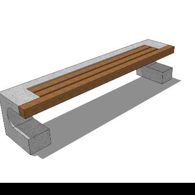 步行街/公园长凳模型素材