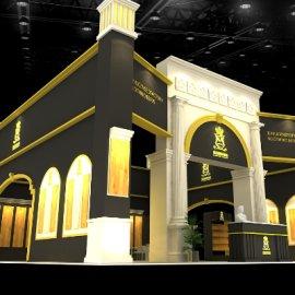 高端房地产小区别墅展厅展台设计