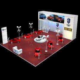 长安汽车展台展厅3Dmax模型设计