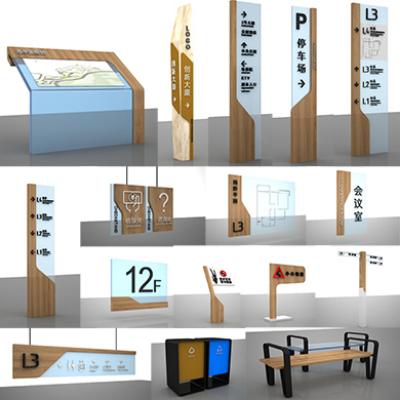 商场导视标识设计商业中心导视系统