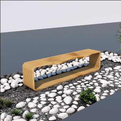 必然云创·创意拼接人性化木质公园休息长椅座椅