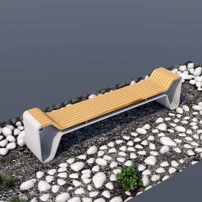 必然云创·创意拼接木质公园景区休息长椅座椅