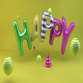 气球 happy