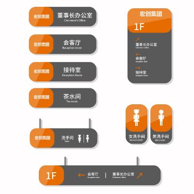 宏创集团办公室标识导视牌