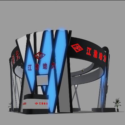 蓝色展厅设计