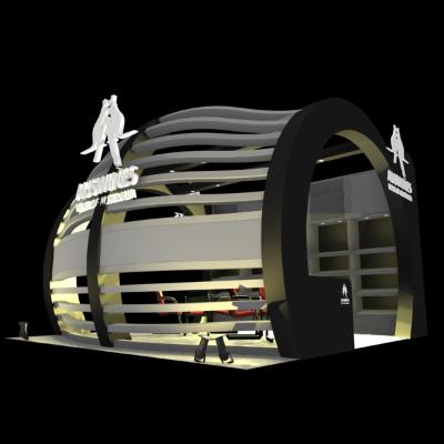黑色展厅设计