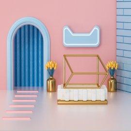 粉色接待室