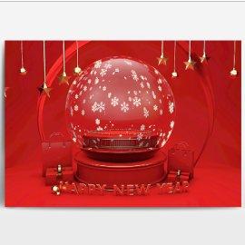 下雪玻璃球