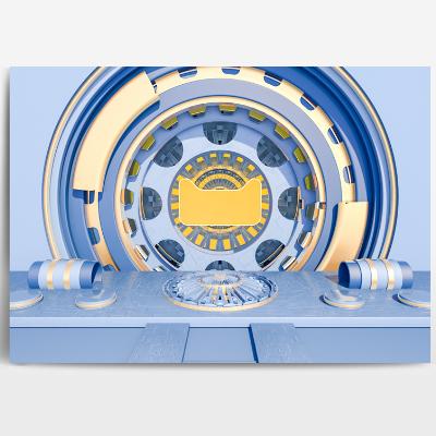 蓝色场景模型