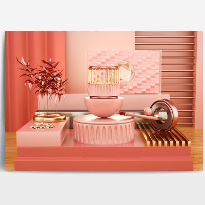 粉色电商场景