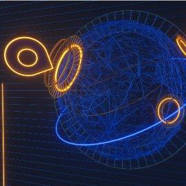 酷炫线条发光带C4D效果图模型