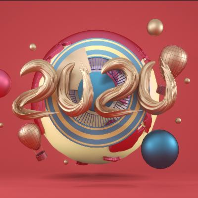 红色酷炫扭曲2020年电商C4D场景模型