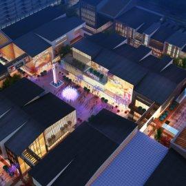 现代特色商业古建小镇升级改造项目MAX效果图