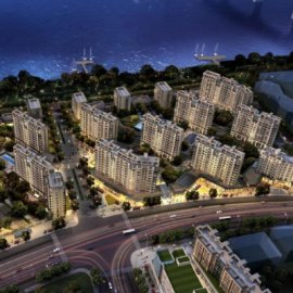 现代主义风格10层商用小区住宅楼