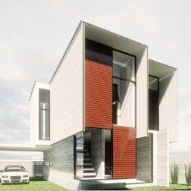 现代主义风格2层小别墅