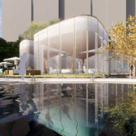 现代主义风格2层房地产中央公园销售中心售楼部