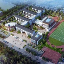 现代主义风格5层小学校园规划设计