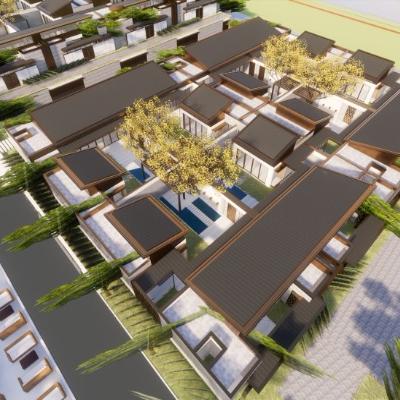 现代主义风格2层房地产别墅豪宅