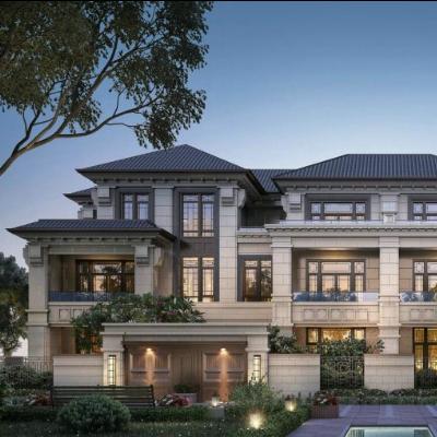 现代主义风格3层联排别墅