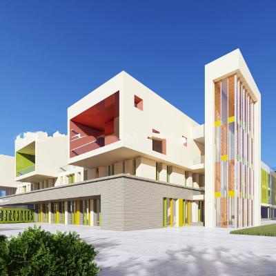 现代主义风格3层幼儿园