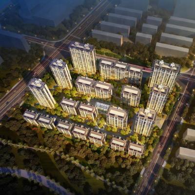 现代主义风格18层住宅小区