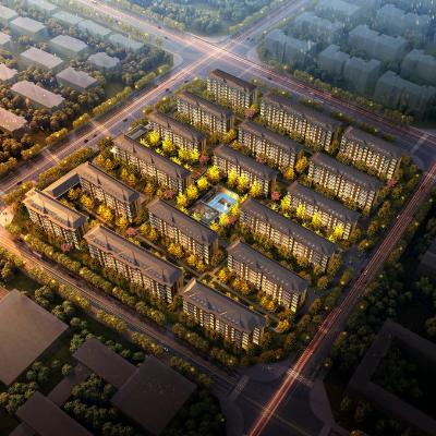 中式风格7层房地产花园住宅洋房