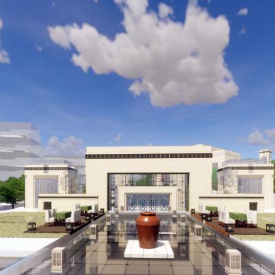 新古典主义风格3层房地产销售中心售楼处