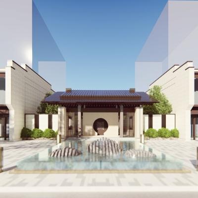 中式风格3层高档会所设计