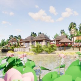 特色东南亚风格2层民宿度假村