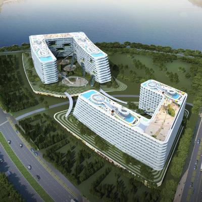 现代主义风格10层商业酒店