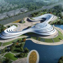 现代主义风格4层文化馆