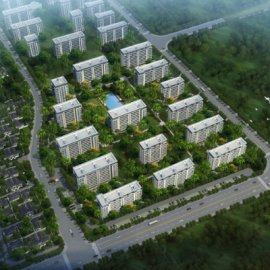 现代主义风格12层商用住宅小区
