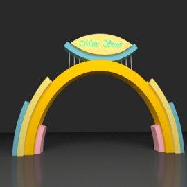 彩虹拱门美陈设计