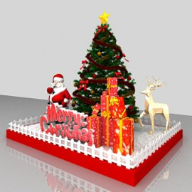 圣诞装饰美陈模型