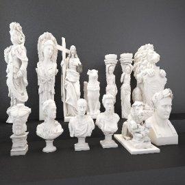 欧式人物石膏雕塑组合