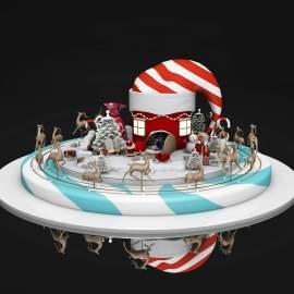圣诞节美陈模型设计