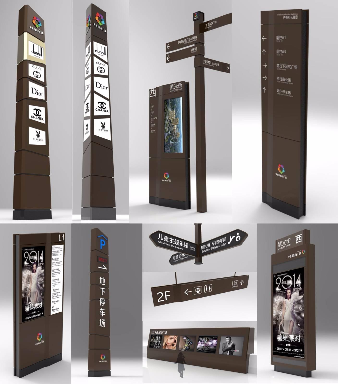 某商场广场导视系统设计【全套标识牌】